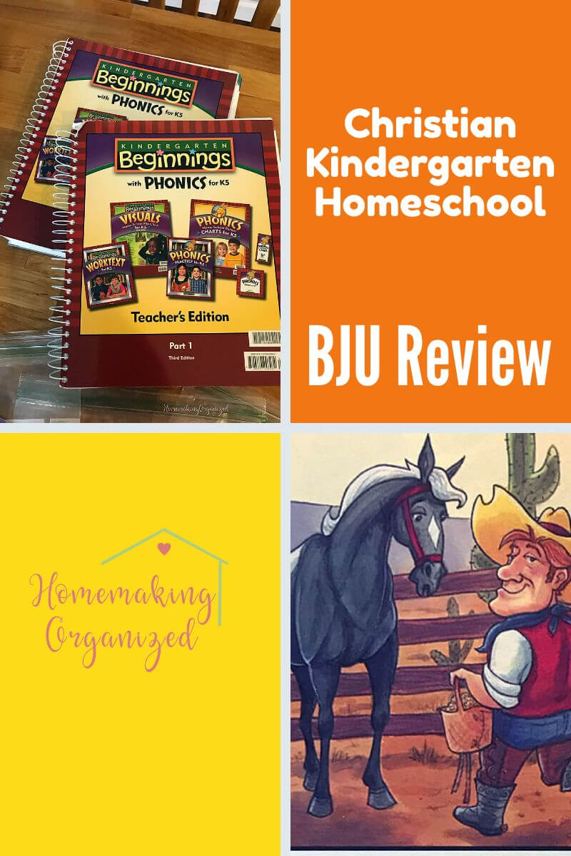 Our review of the BJU Press Kindergarten Homeschool Curriculum