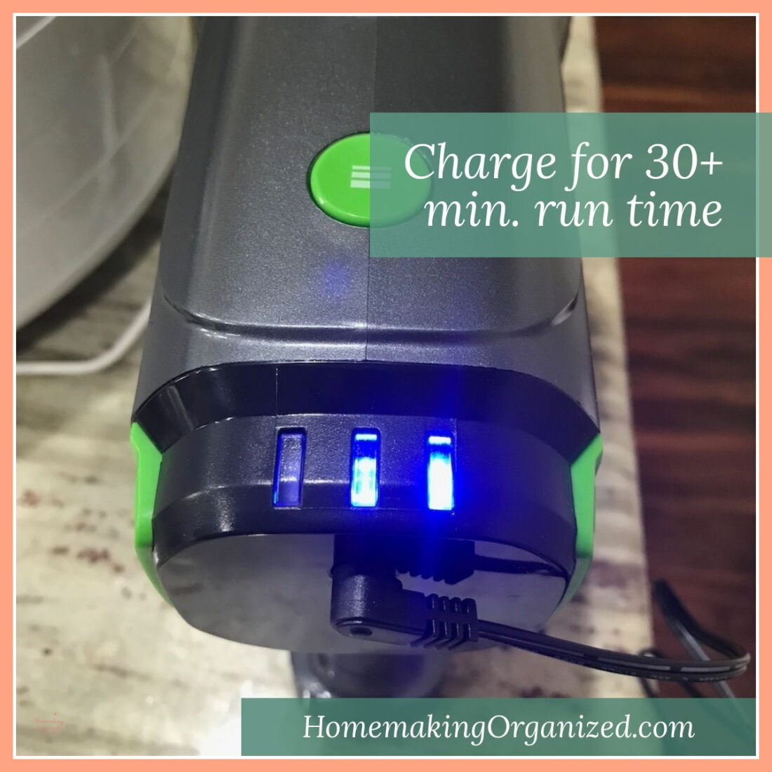 TOPPIN Powerful Cordless Stick Vacuum Charging Lights