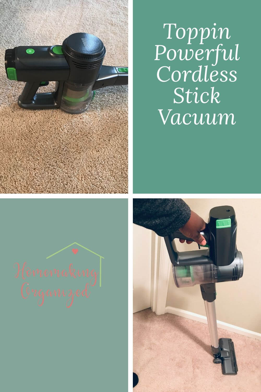 Toppin Powerful Cordless Stick Vacuum