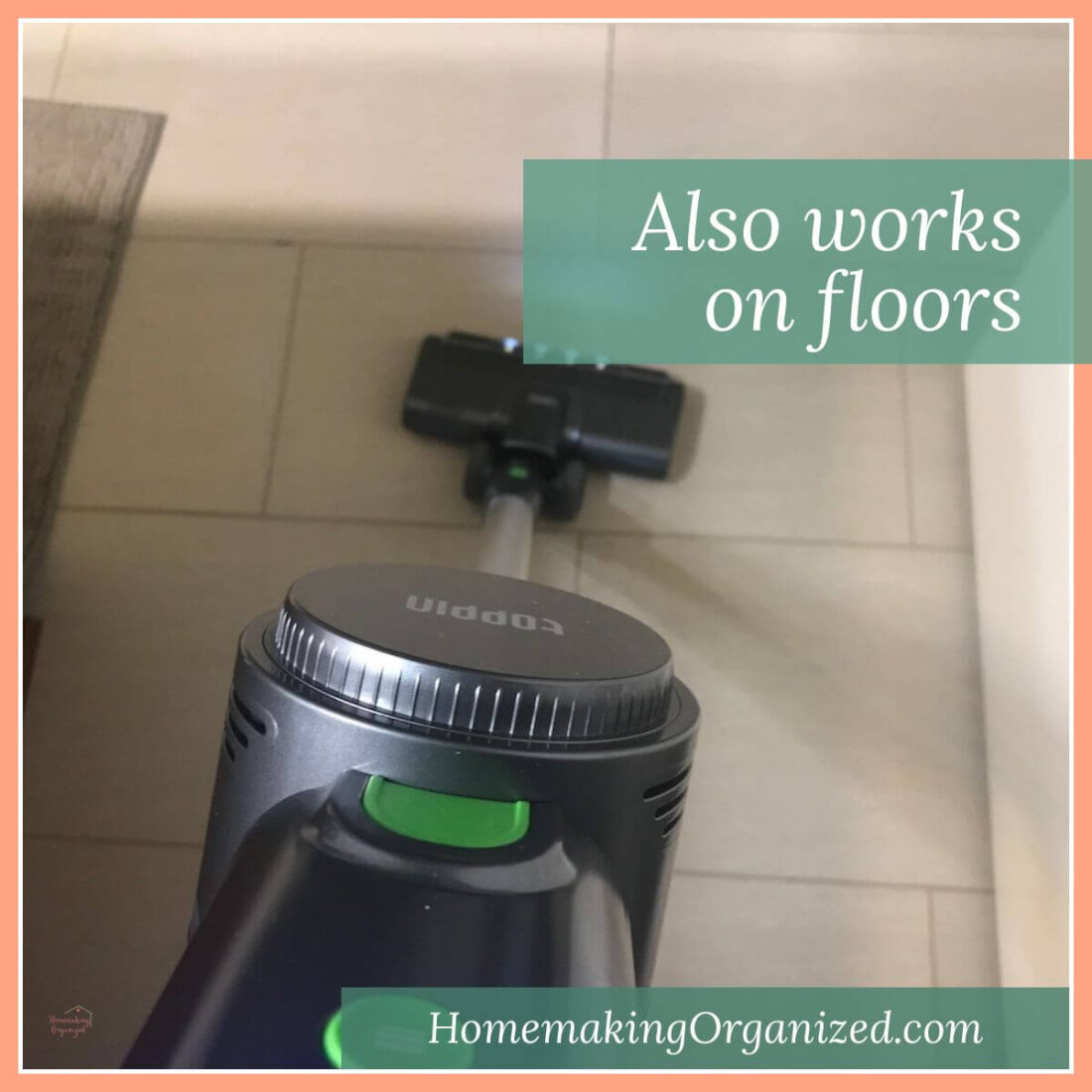 TOPPIN Powerful Cordless Stick Vacuum works on floors