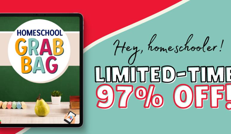 Digital Homeschool Grab Bag Sale! This week